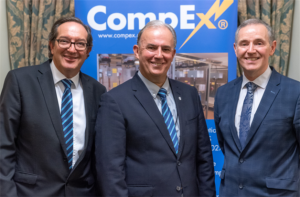 Left to Right:  Jon Graham - Chief Executive JTL, Martin Jones – Operations Manager CompEx, Steven Bratt – Chair of CompEx