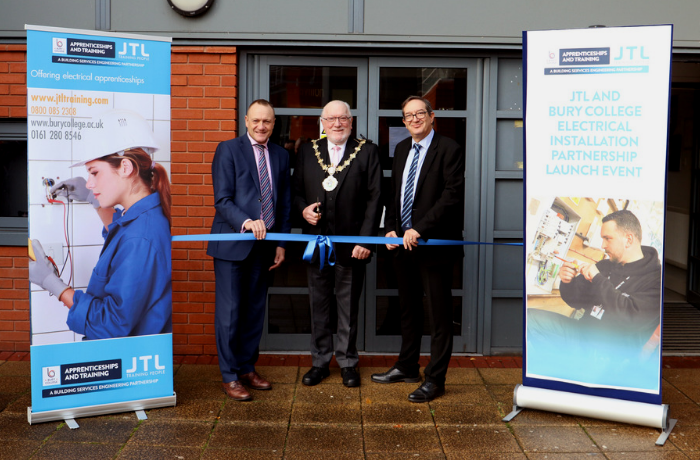 The Mayor of Bury launches the JTL and Bury College Electrical Installation Partnership