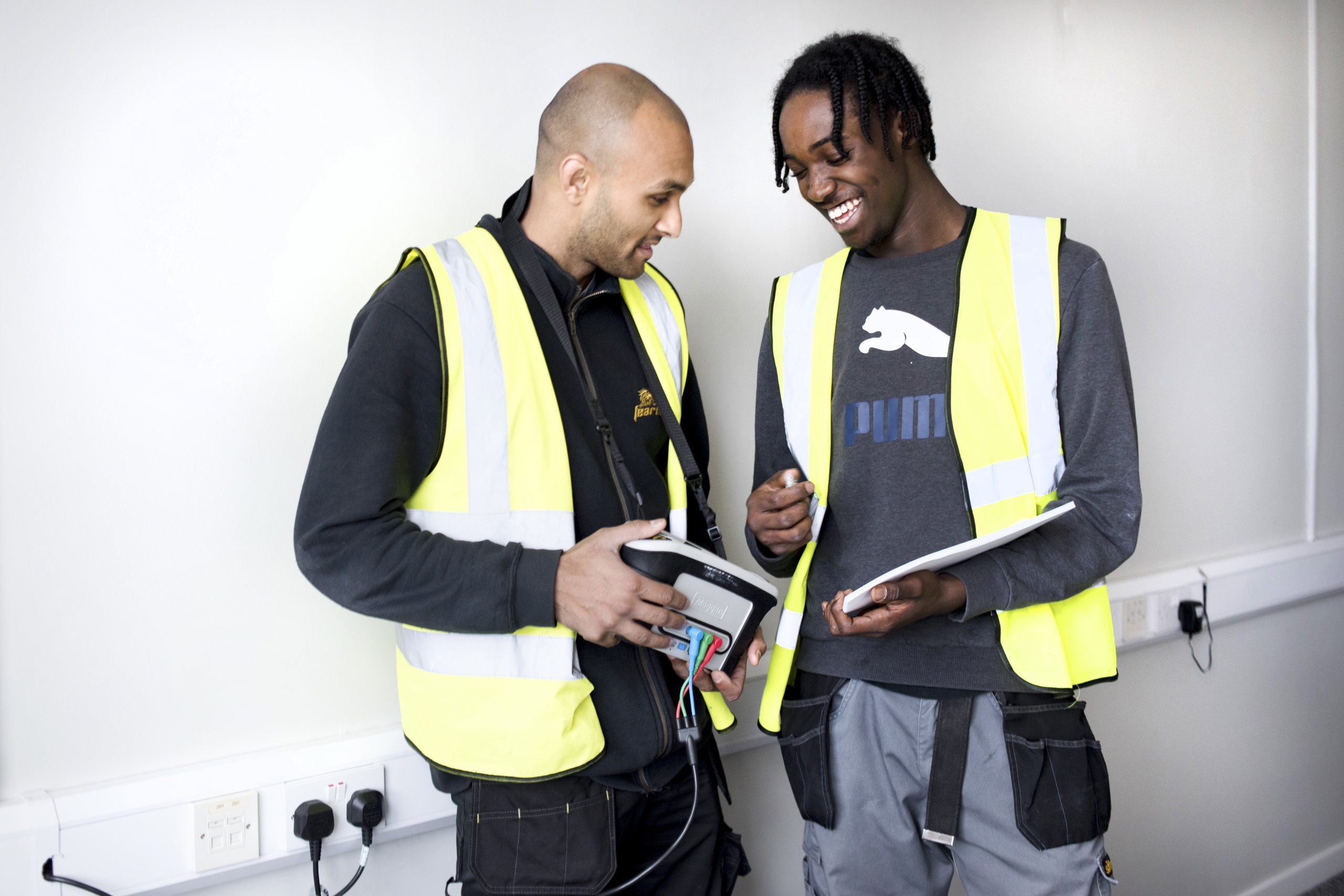 BAME apprentices laughing